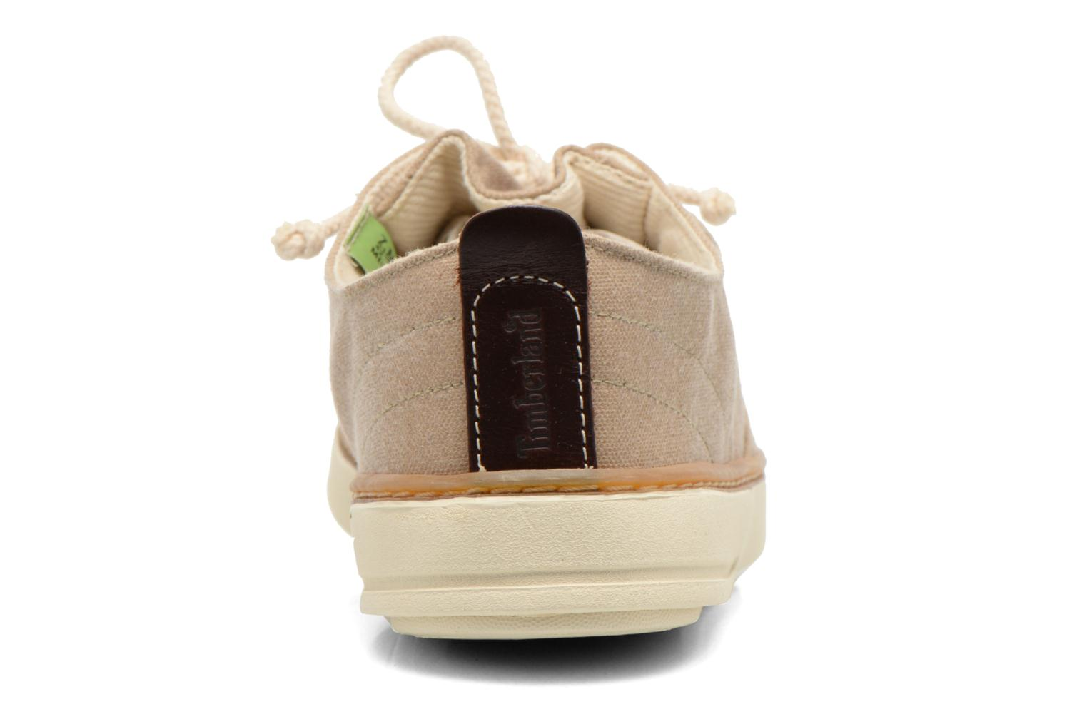 Baskets Timberland Earthkeepers Hookset Handcrafted Fabric Oxford Beige vue droite