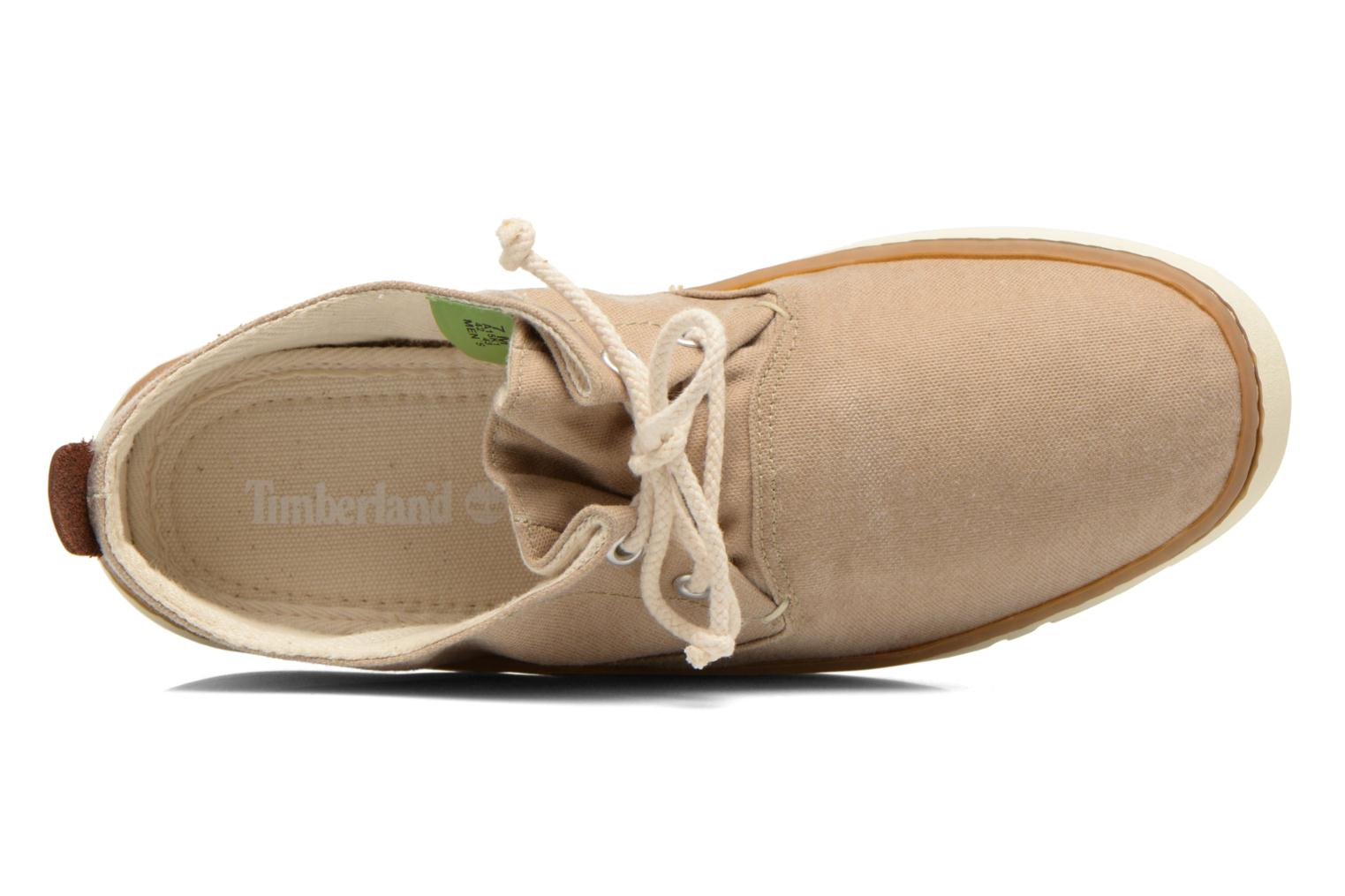 Sneaker Timberland Earthkeepers Hookset Handcrafted Fabric Oxford beige ansicht von links