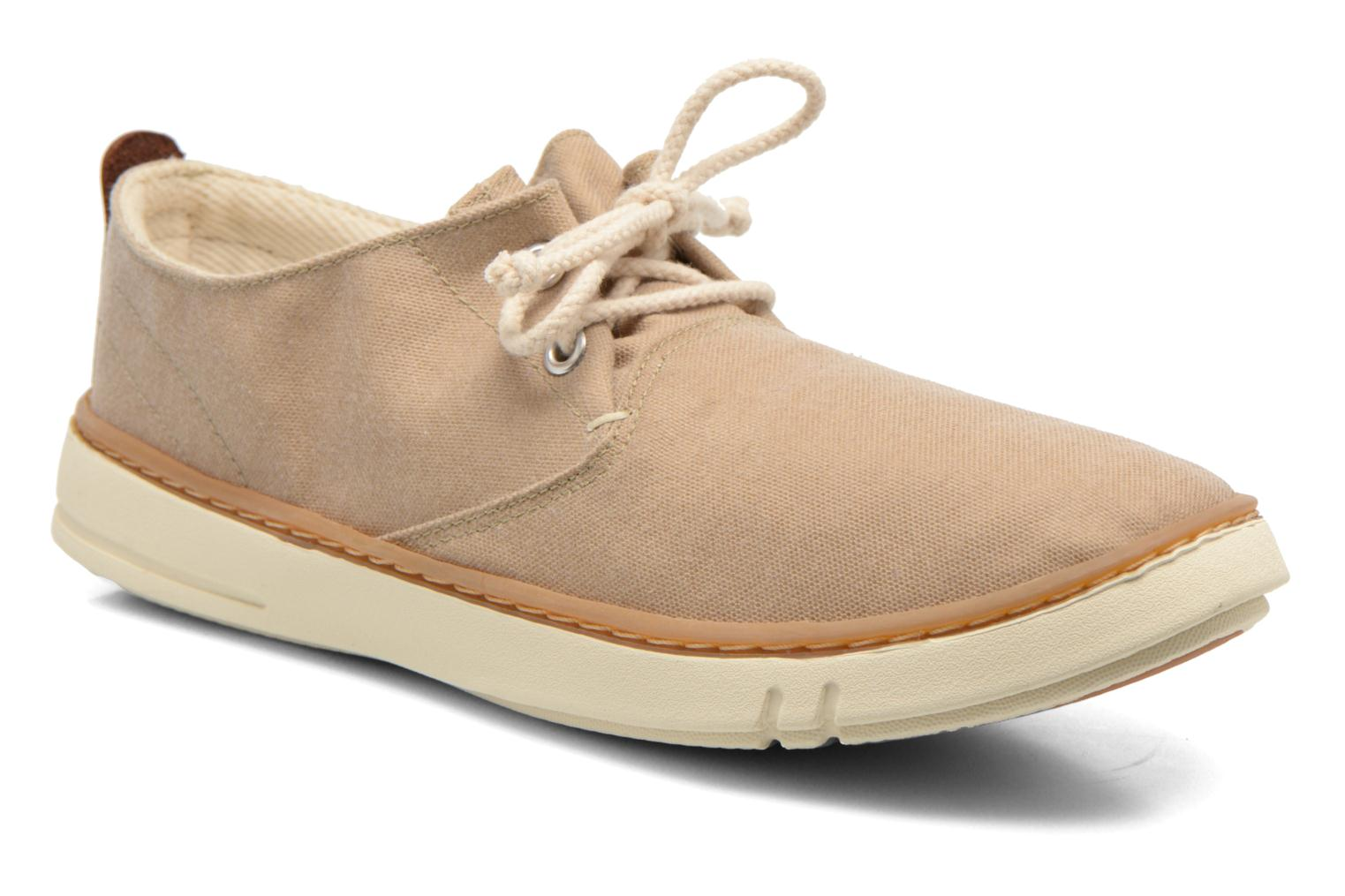 Baskets Timberland Earthkeepers Hookset Handcrafted Fabric Oxford Beige vue détail/paire