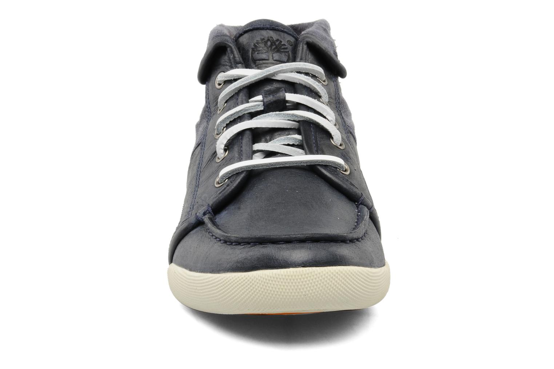 Baskets Timberland Earthkeepers Hookset Split Cupsole Leather Chukka Bleu vue portées chaussures