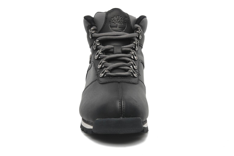 Schnürschuhe Timberland Splitrock 2 schwarz schuhe getragen