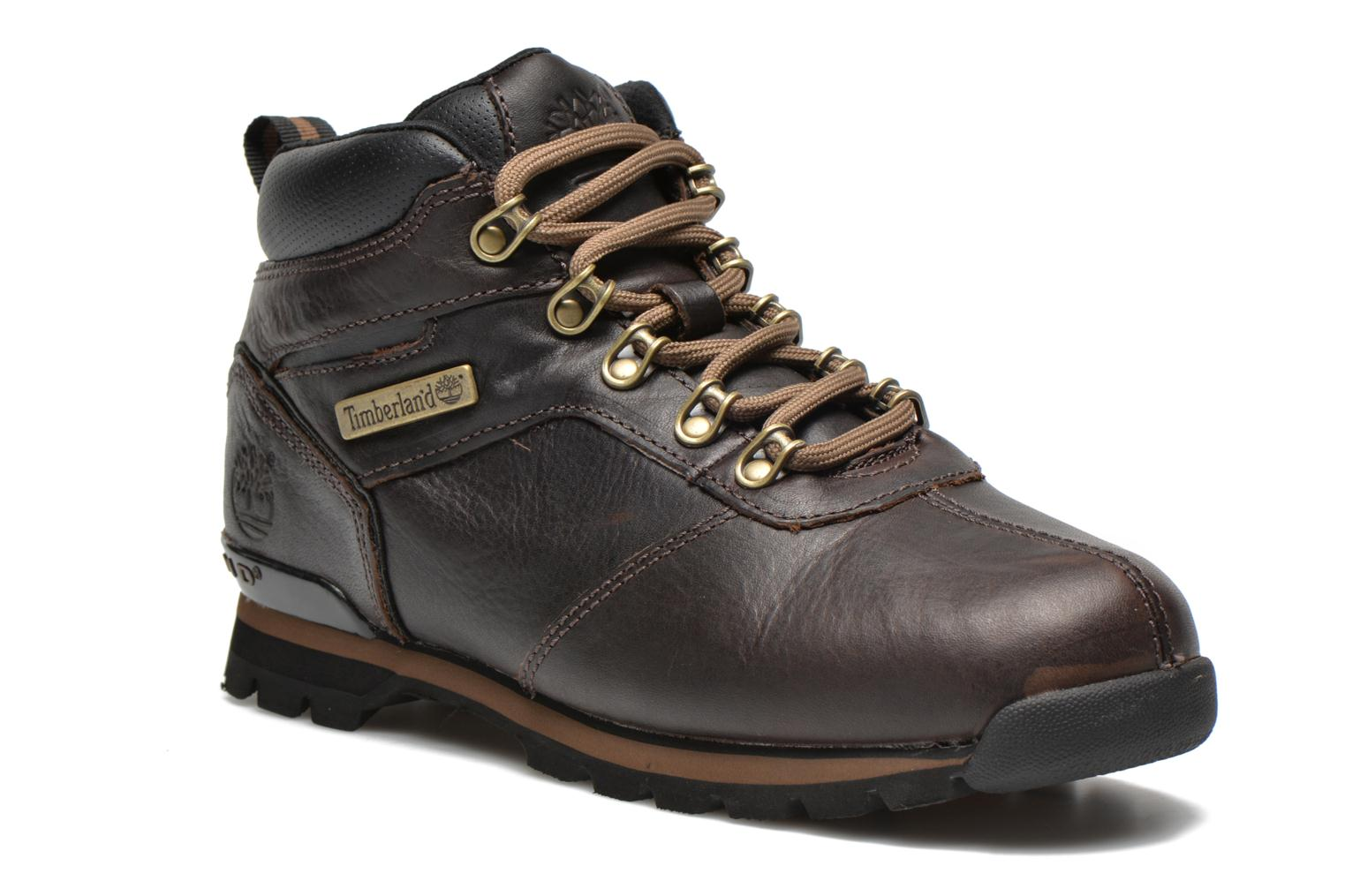 Lace-up shoes Timberland Splitrock 2 Brown detailed view/ Pair view