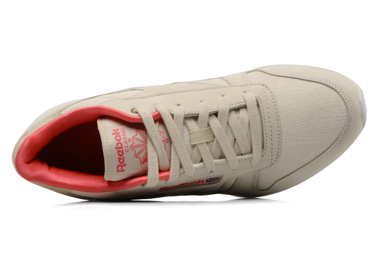 Chaussures de sport Reebok Easytone CL Leather Beige vue gauche