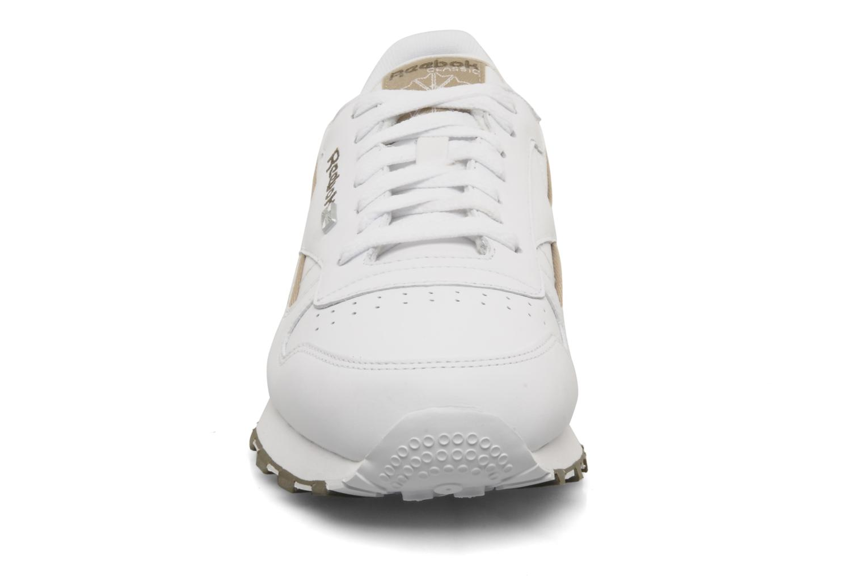 CL Leither Matl White-Khaki-Charcoal Brown