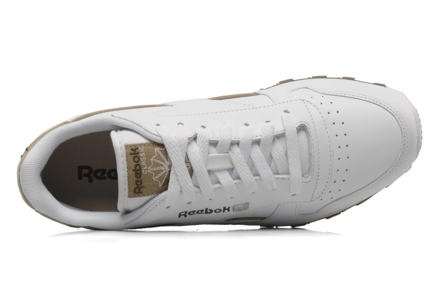 Trainers Reebok CL Leither Matl White view from the left