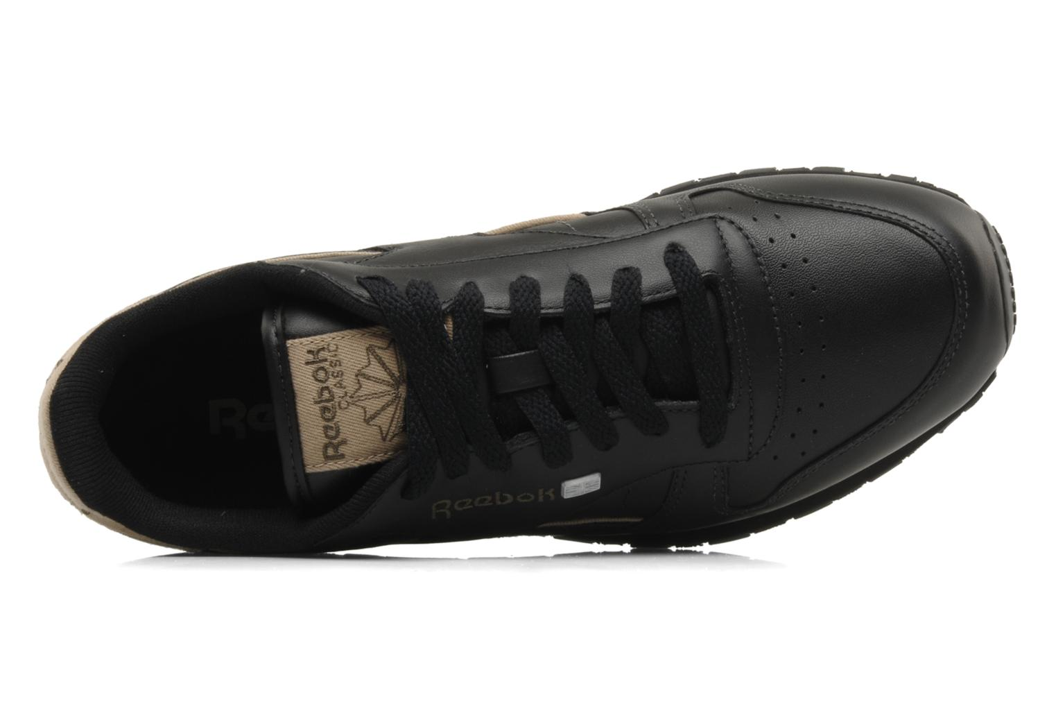 Sneakers Reebok CL Leither Matl Nero immagine sinistra