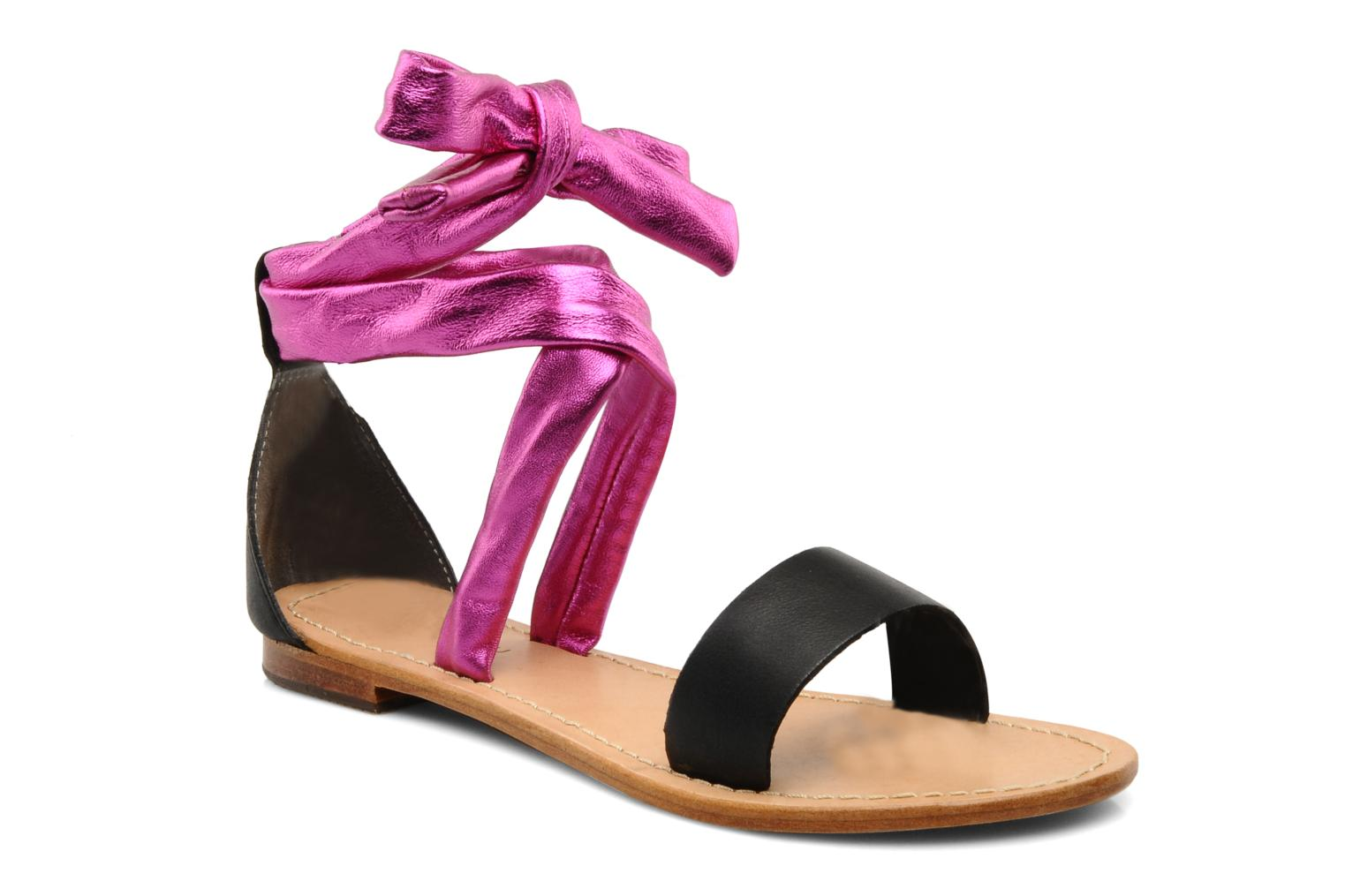 Sandals Mellow Yellow Jaipur Pink detailed view/ Pair view