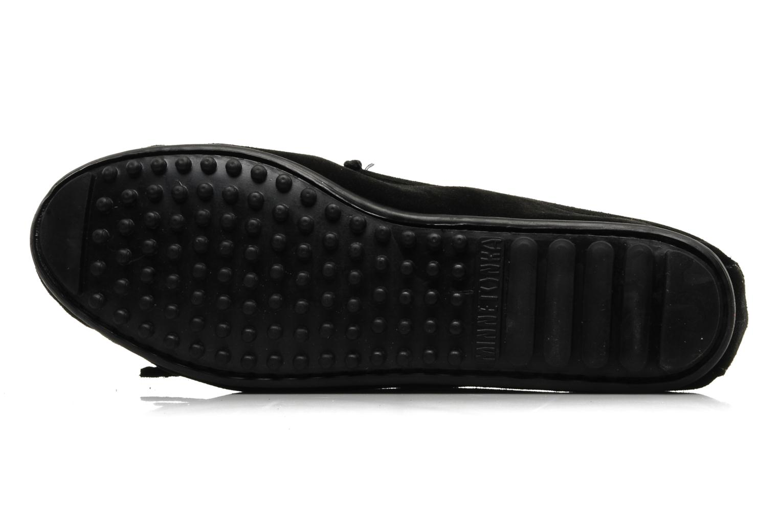 Loafers Minnetonka PEACE Black view from above