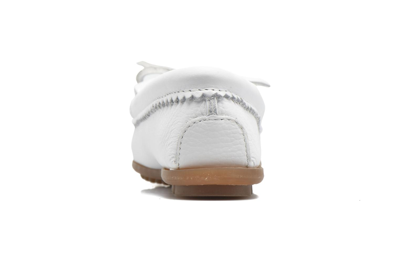 Loafers Minnetonka THUNDERBIRD 2 White view from the right