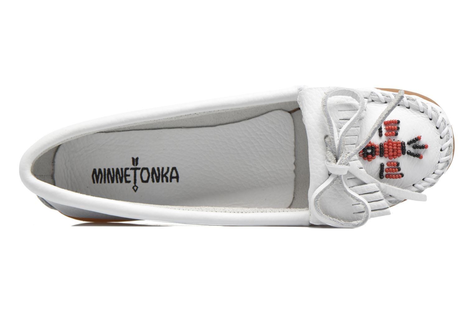 Loafers Minnetonka THUNDERBIRD 2 White view from the left