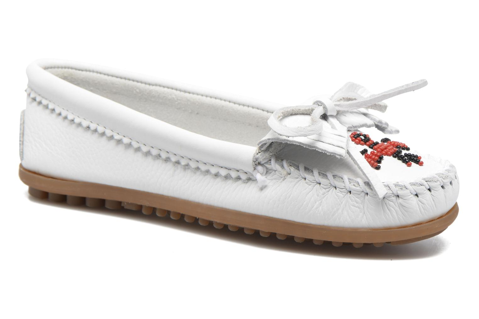 Marques Chaussure femme Minnetonka femme THUNDERBIRD 2 White Smooth