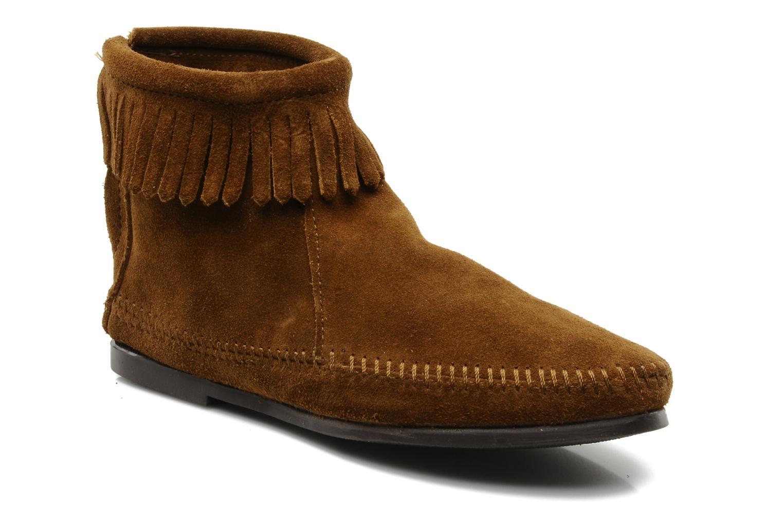 Boots en enkellaarsjes Minnetonka BACK ZIPPER BT Bruin detail