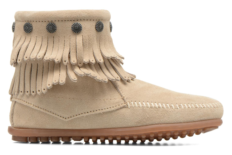 Ankle boots Minnetonka DOUBLE FRINGE BT Beige back view