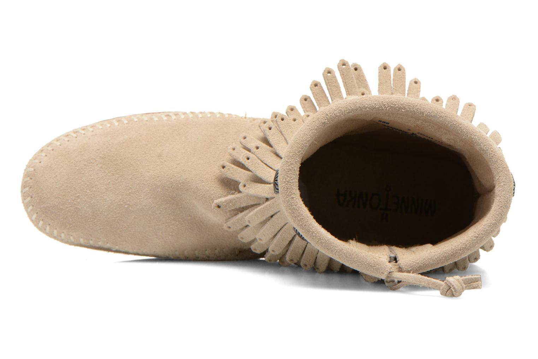 Bottines et boots Minnetonka DOUBLE FRINGE BT Beige vue gauche