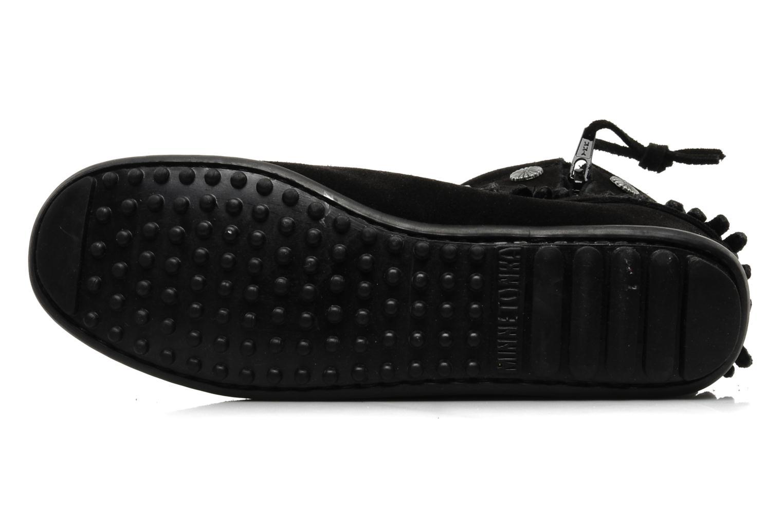 Stiefeletten & Boots Minnetonka DOUBLE FRINGE BT schwarz ansicht von oben