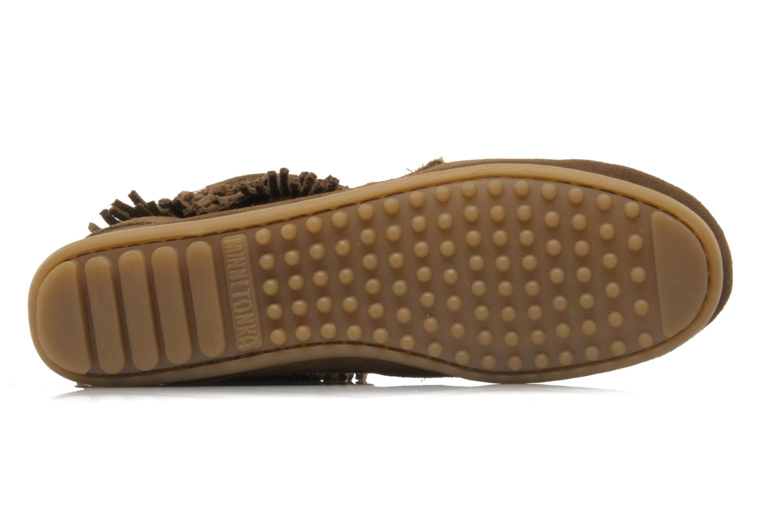 Bottines et boots Minnetonka DOUBLE FRINGE TRAMPER Marron vue haut