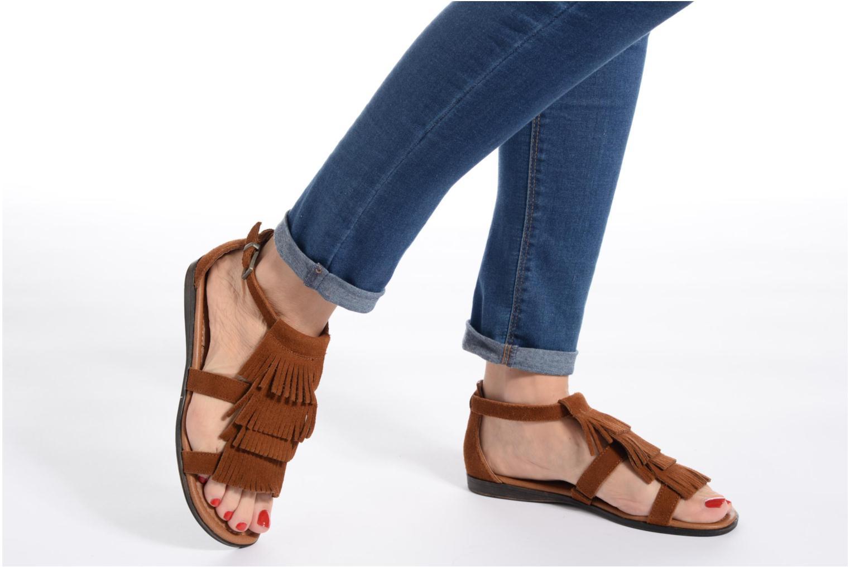 Sandalen Minnetonka Maui mehrfarbig ansicht von unten / tasche getragen