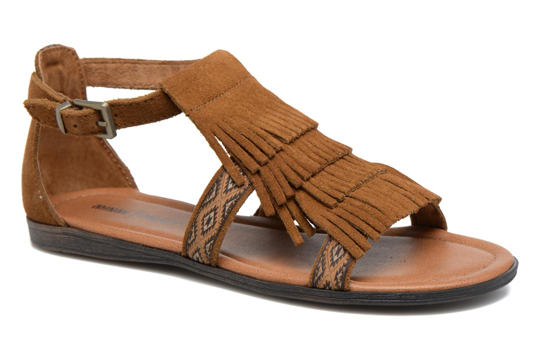 Sandals Minnetonka Maui Brown detailed view/ Pair view