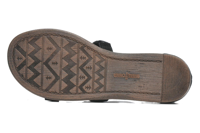 Sandalen Minnetonka Maui schwarz ansicht von oben