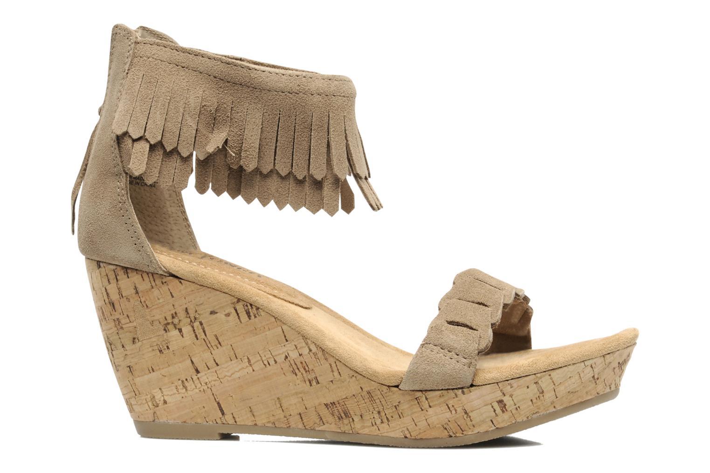 Sandals Minnetonka Nicki Beige back view