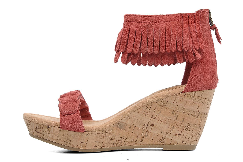 Sandales et nu-pieds Minnetonka Nicki Rouge vue face