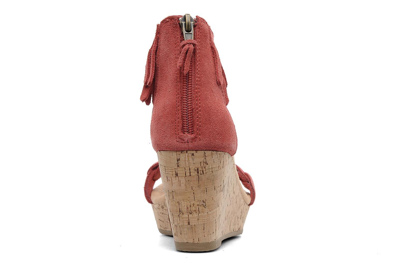 Sandales et nu-pieds Minnetonka Nicki Rouge vue droite