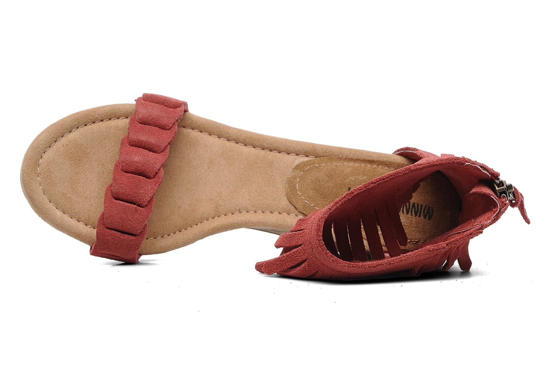 Sandales et nu-pieds Minnetonka Nicki Rouge vue gauche