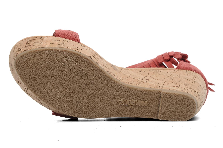 Sandales et nu-pieds Minnetonka Nicki Rouge vue haut
