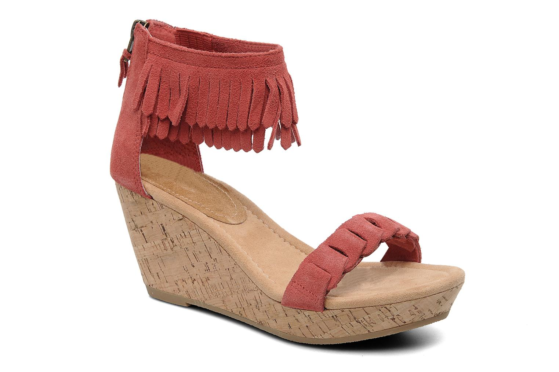Sandaler Minnetonka Nicki Röd detaljerad bild på paret