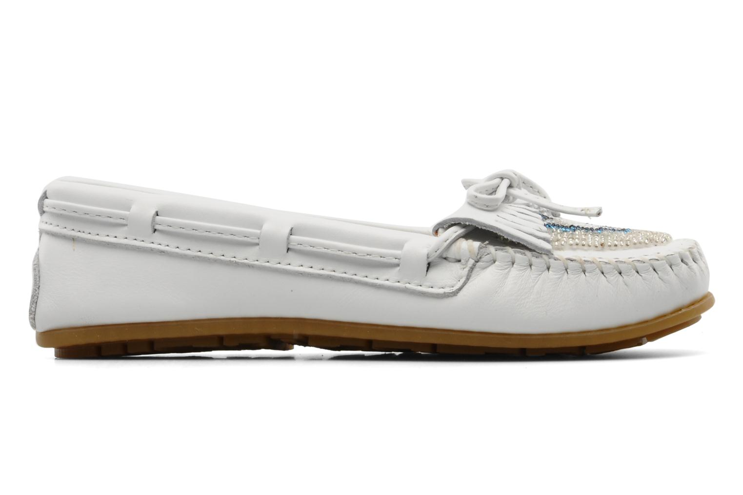 Mocassins Minnetonka KILTY BEADED Blanc vue derrière