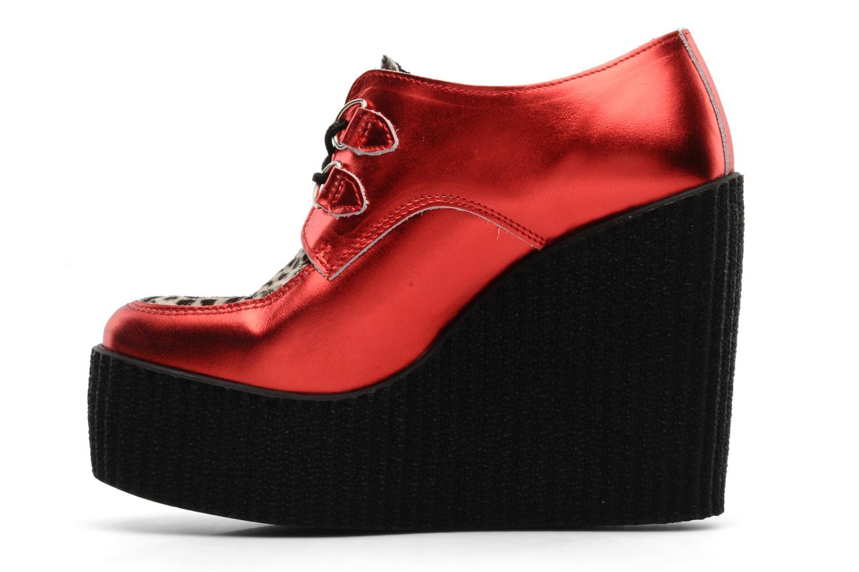 Snörade skor Underground Flashies Röd bild från framsidan