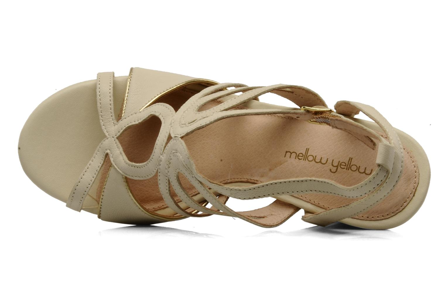 Sandals Mellow Yellow Leef Beige view from the left
