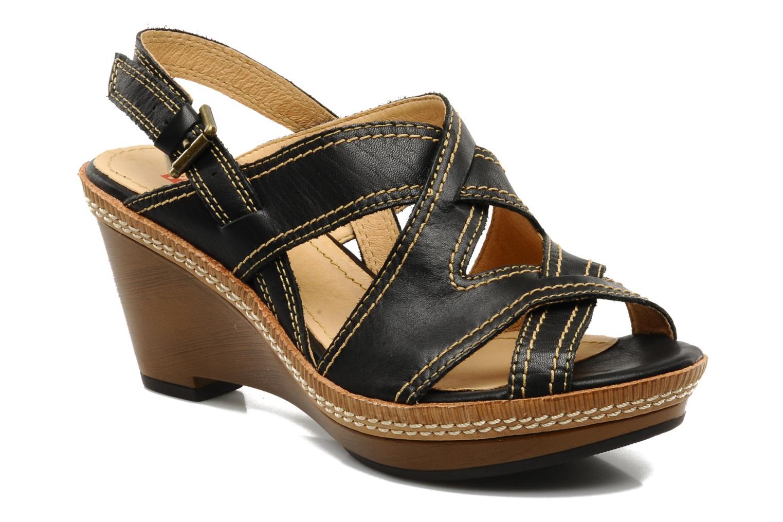 Sandales et nu-pieds Pikolinos Gomera 8247 Noir vue détail/paire