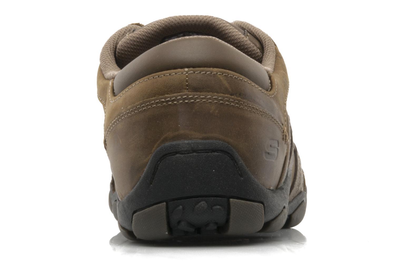 Sneaker Skechers Vassell 62607 braun ansicht von rechts