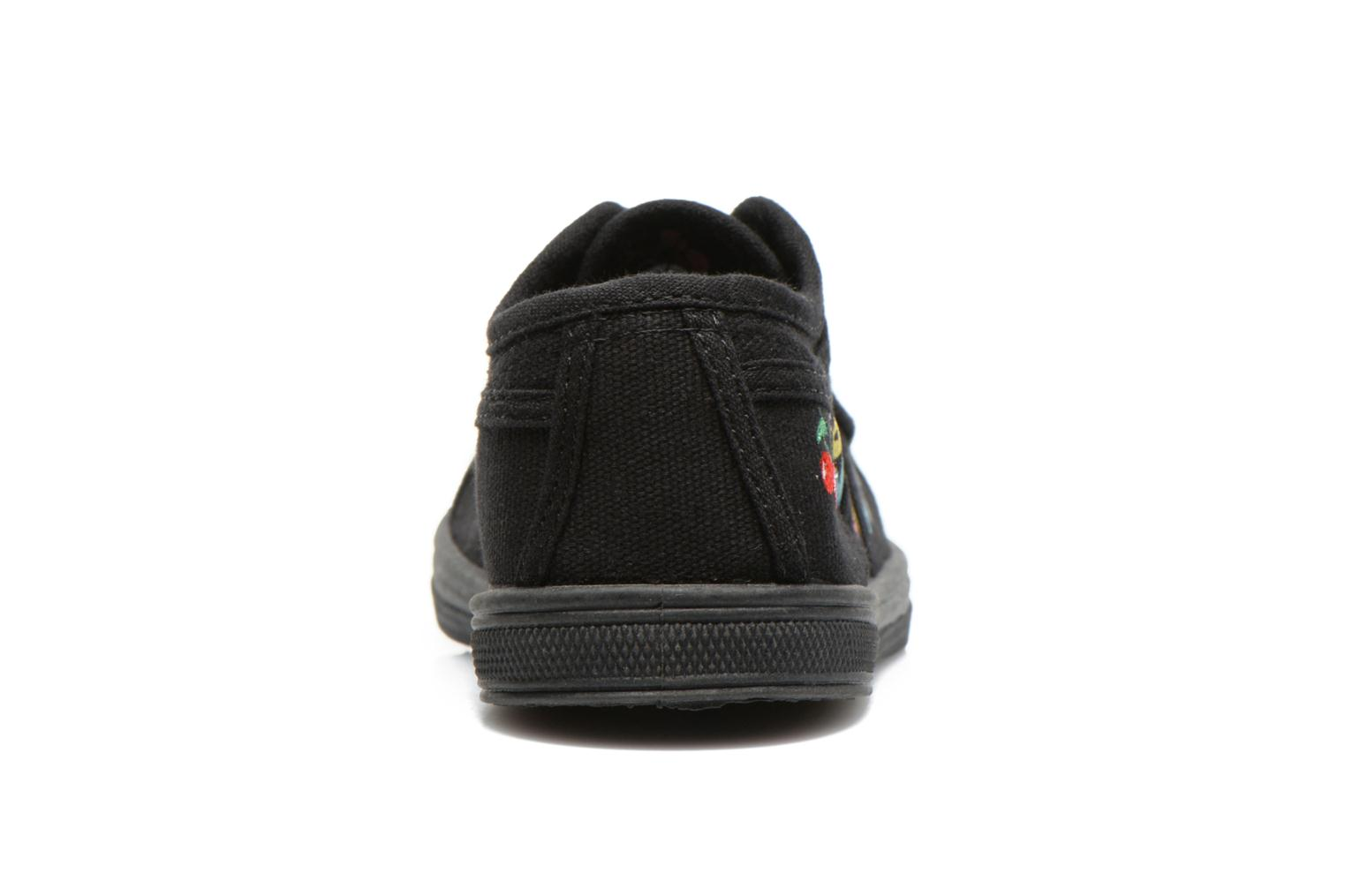 Trainers Le temps des cerises Basic 02 E Black view from the right