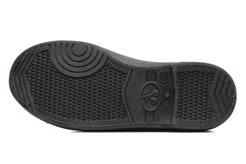 Sneaker Le temps des cerises Basic 02 E schwarz ansicht von oben
