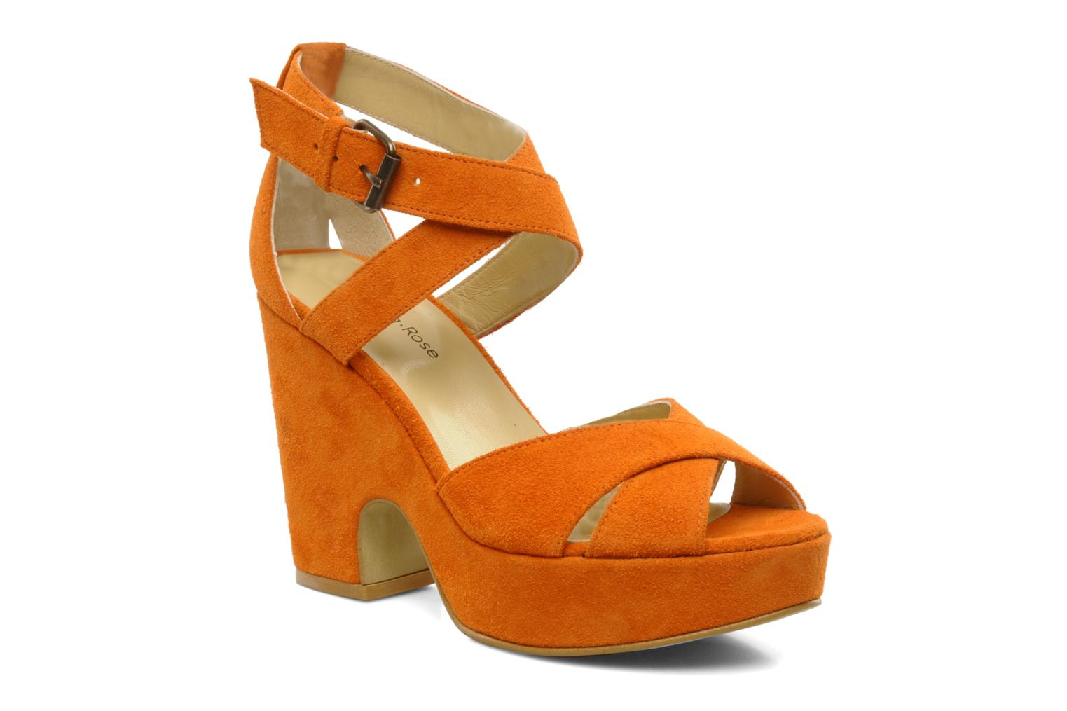 Sandals Georgia Rose Tobaco Orange detailed view/ Pair view