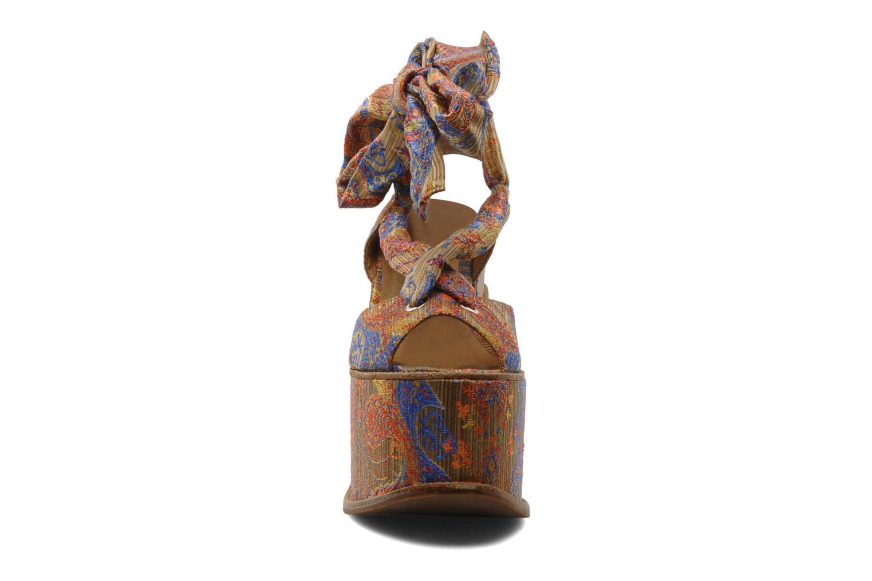 Sandales et nu-pieds Jeffrey Campbell LANDERS Or et bronze vue portées chaussures