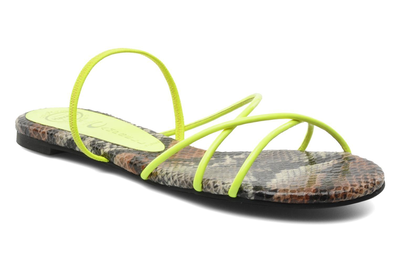 Sandales et nu-pieds Jeffrey Campbell SPIRAL Jaune vue détail/paire