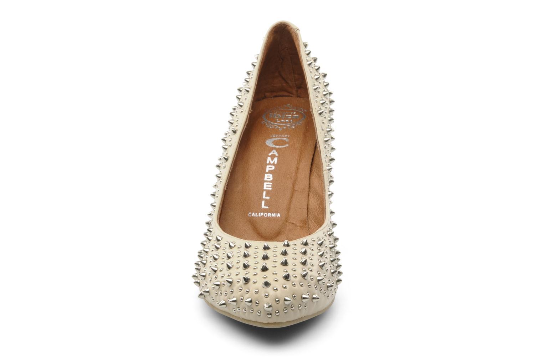 Escarpins Jeffrey Campbell LANE SPIKE Beige vue portées chaussures