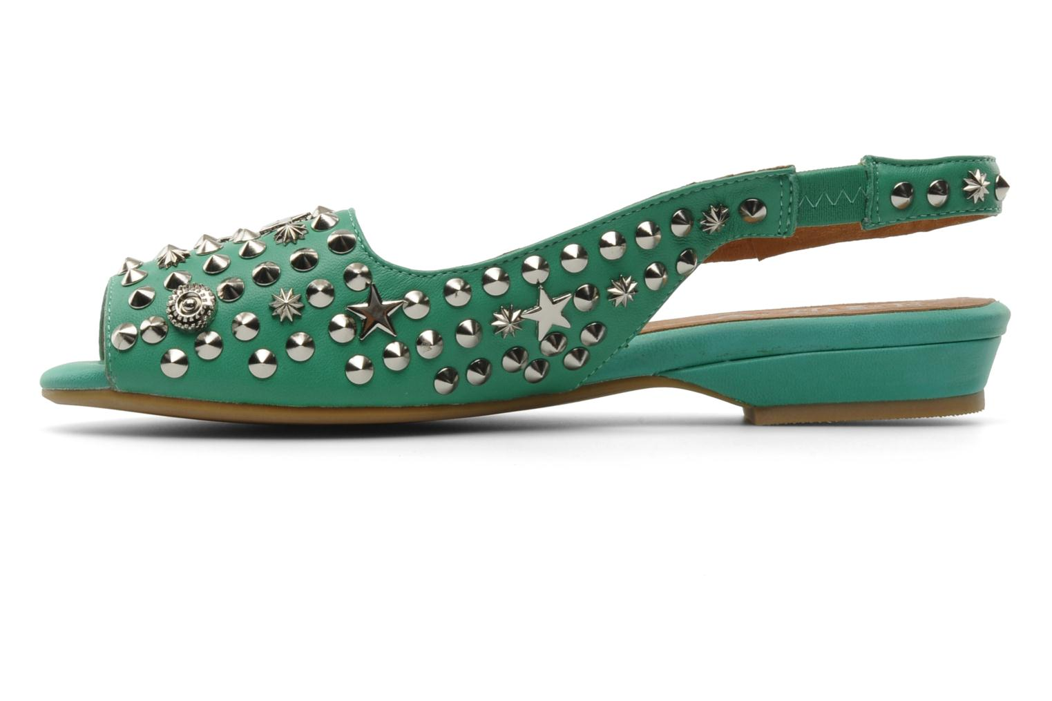 Sandalias Jeffrey Campbell SIDE NOTE Verde vista de frente