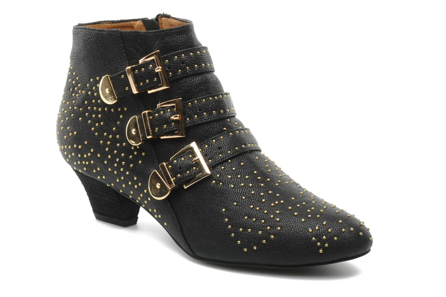 Ankle boots Jeffrey Campbell STARBURST Black detailed view/ Pair view