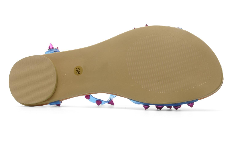 Sandales et nu-pieds Jeffrey Campbell PUFFER Bleu vue haut