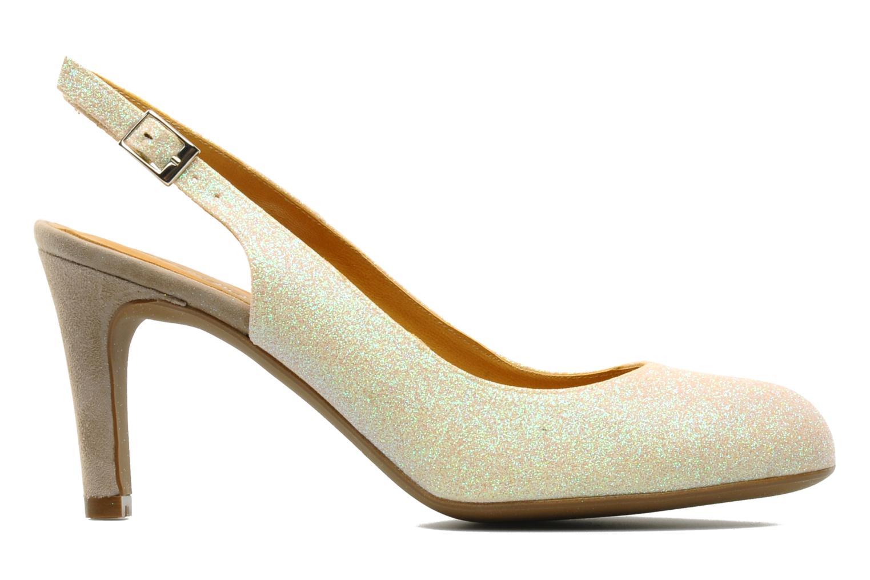 High heels Georgia Rose Ziggy Bronze and Gold back view