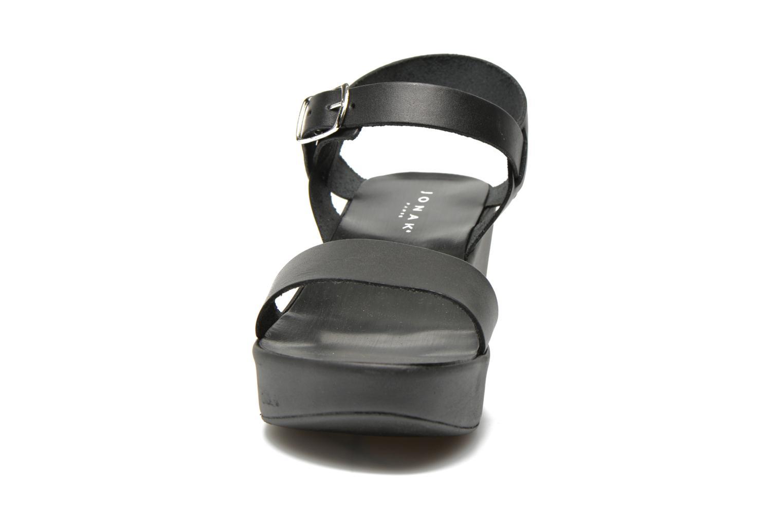 Sandalen Jonak Jocho schwarz schuhe getragen