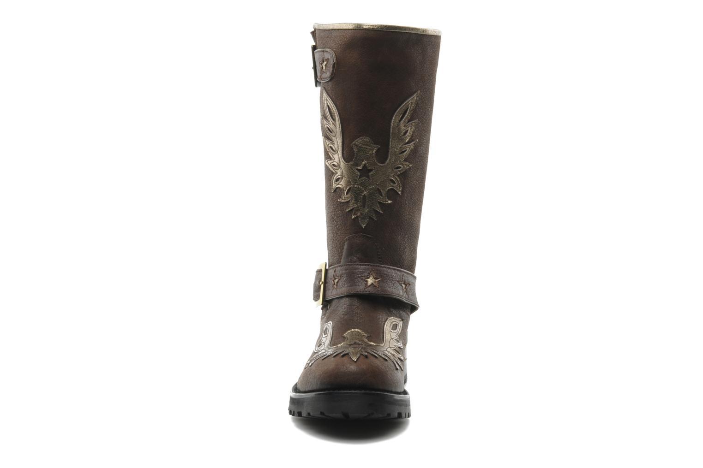 Bottines et boots Georgia Rose Perjane Marron vue portées chaussures