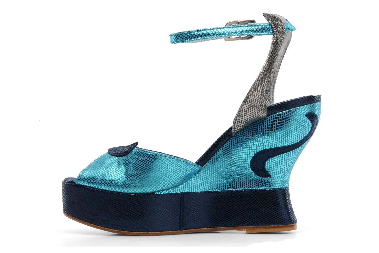 Sandales et nu-pieds Terry de Havilland MARGAUX LOW Bleu vue face