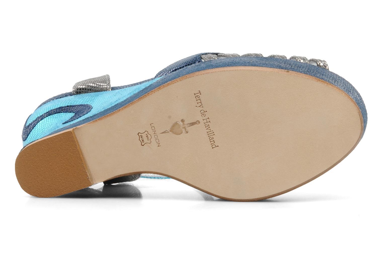 Sandalias Terry de Havilland MARGAUX LOW Azul vista de arriba