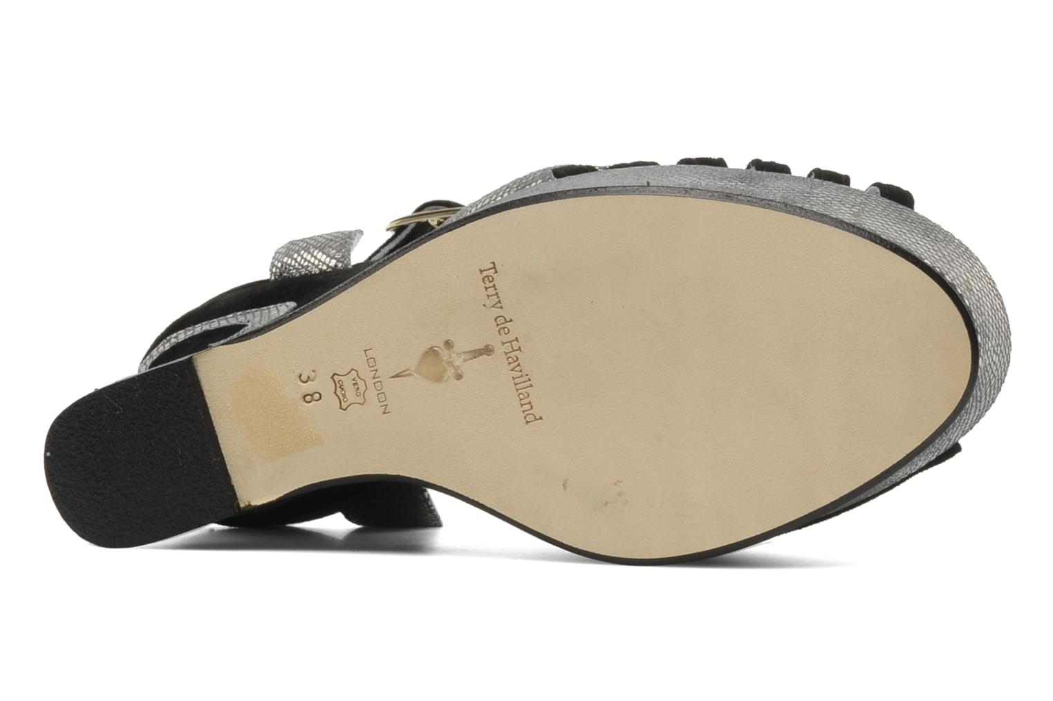 Sandals Terry de Havilland MARGAUX LOW Black view from above