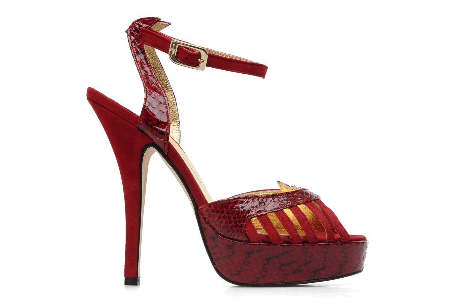 Sandals Terry de Havilland MARGUERITE SNAKE Red back view